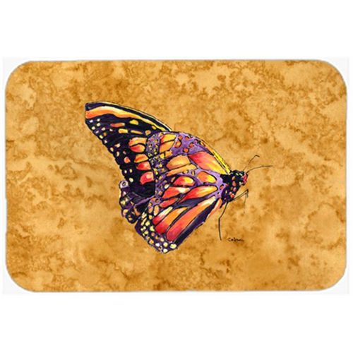Carolines Treasures 8858MP Butterfly on Gold Mouse Pad Hot Pad or Trivet