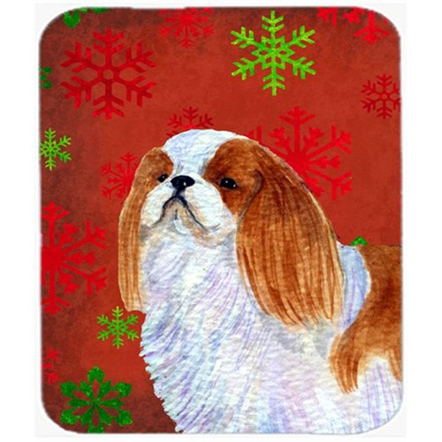 Carolines Treasures SS4714MP English Toy Spaniel Snowflakes Holiday Christmas Mouse Pad Hot Pad or Trivet