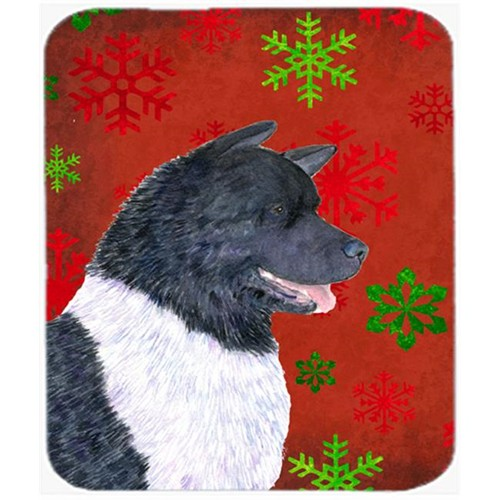 Carolines Treasures SS4728MP Akita Red and Green Snowflakes Holiday Christmas Mouse Pad Hot Pad or Trivet
