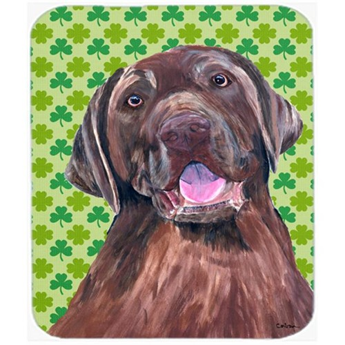 Carolines Treasures SC9304MP Labrador Chocolate St. Patricks Day Shamrock Mouse Pad Hot Pad or Trivet