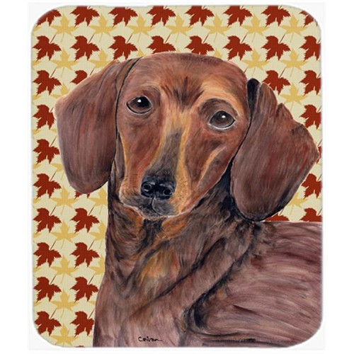 Carolines Treasures SC9208MP Dachshund Fall Leaves Portrait Mouse Pad Hot Pad or Trivet
