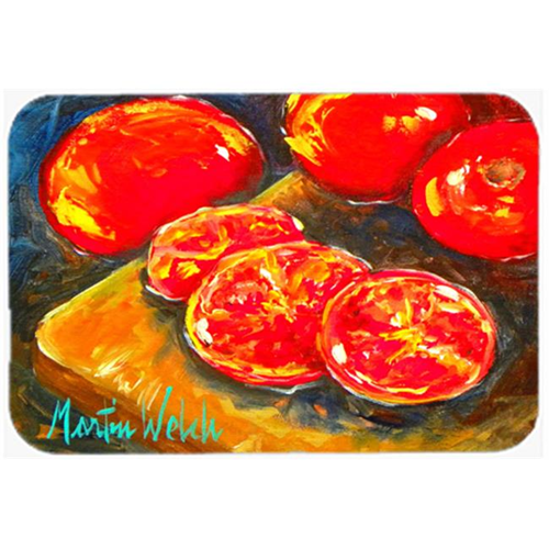 Carolines Treasures MW1099MP Vegetables - Tomatoes Slice It Up Mouse Pad Hot Pad or Trivet