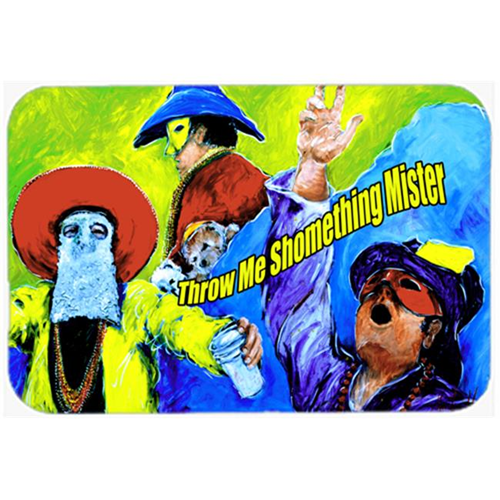 Carolines Treasures MW1108MP Mardi Gras Throw me something mister Mouse Pad Hot Pad or Trivet