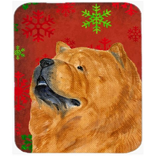 Carolines Treasures SS4709MP Chow Chow Snowflakes Holiday Christmas Mouse Pad Hot Pad or Trivet
