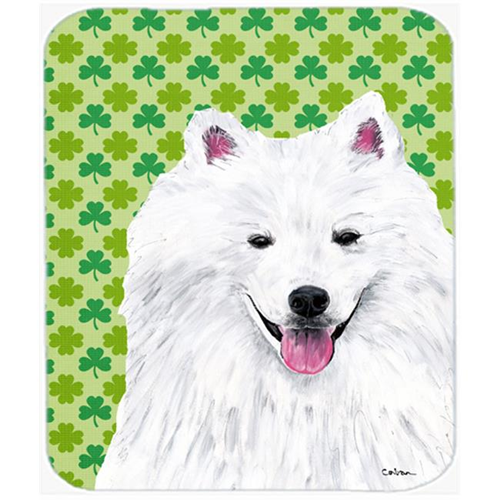 Carolines Treasures SC9299MP American Eskimo St. Patricks Day Shamrock Mouse Pad Hot Pad or Trivet
