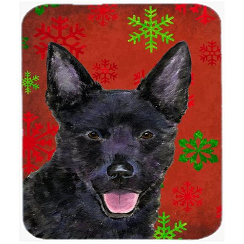 Carolines Treasures SS4705MP Australian Kelpie Snowflakes Holiday Christmas Mouse Pad Hot Pad or Trivet