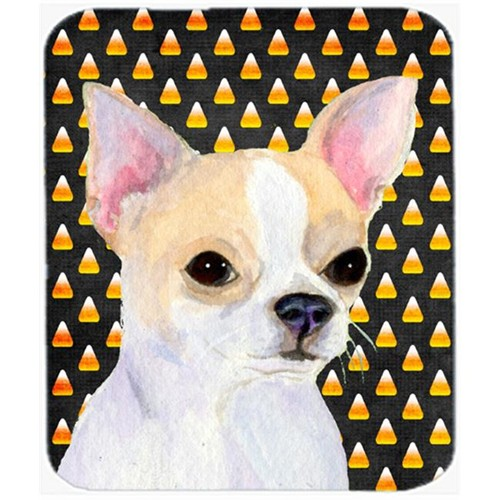 Carolines Treasures SS4267MP Chihuahua Candy Corn Halloween Portrait Mouse Pad Hot Pad Or Trivet