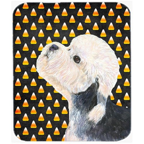 Carolines Treasures SS4296MP Dandie Dinmont Terrier Candy Corn Halloween Mouse Pad Hot Pad Or Trivet