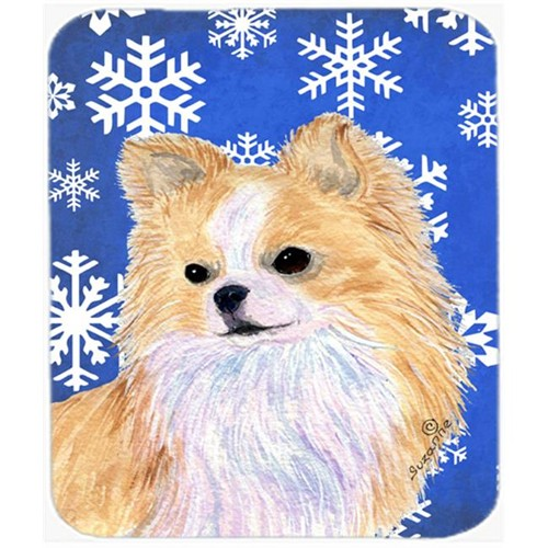 Carolines Treasures SS4611MP Chihuahua Winter Snowflakes Holiday Mouse Pad Hot Pad Or Trivet