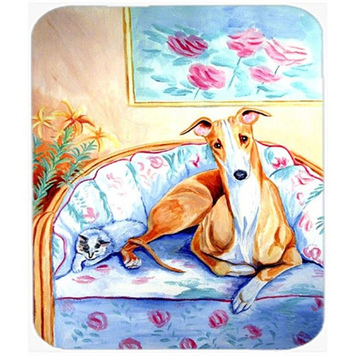 Carolines Treasures 7081MP 9.5 x 8 in. Whippet Waiting on Mom Mouse Pad Hot Pad or Trivet