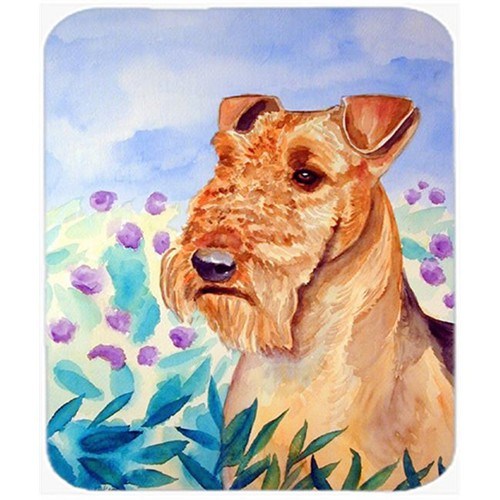 Carolines Treasures 7007MP 9.5 x 8 in. Airedale Terrier in Flowers Mouse Pad Hot Pad or Trivet