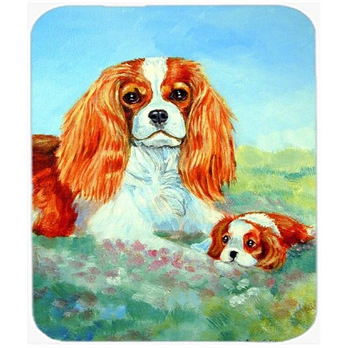 Carolines Treasures 7019MP 9.5 x 8 in. Cavalier Spaniel Mommas Love Mouse Pad Hot Pad or Trivet