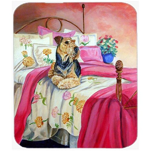 Carolines Treasures 7006MP 9.5 x 8 in. Airedale Terrier Waiting on Mom Mouse Pad Hot Pad or Trivet