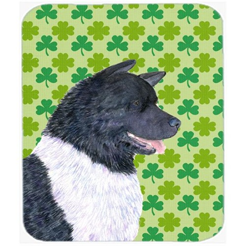 Carolines Treasures SS4452MP Akita St. Patricks Day Shamrock Portrait Mouse Pad Hot Pad Or Trivet