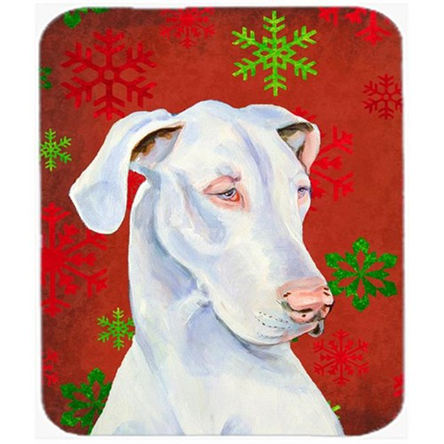 Carolines Treasures LH9311MP Great Dane Red And Green Snowflakes Christmas Mouse Pad Hot Pad Or Trivet - 7.75 x 9.25 In.