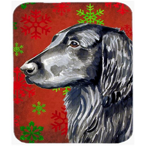 Carolines Treasures LH9321MP Flat Coated Retriever Snowflakes Christmas Mouse Pad Hot Pad Or Trivet - 7.75 x 9.25 In.