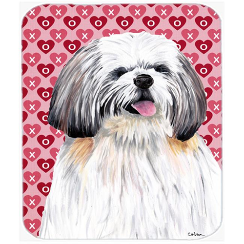 Carolines Treasures SC9256MP Shih Tzu Hearts Love And Valentines Day Portrait Mouse Pad Hot Pad Or Trivet