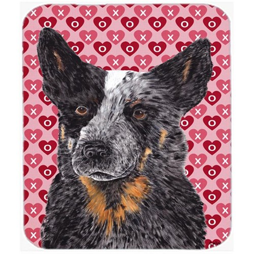 Carolines Treasures SC9243MP Australian Cattle Dog Hearts Love Valentines Day Mouse Pad Hot Pad Or Trivet