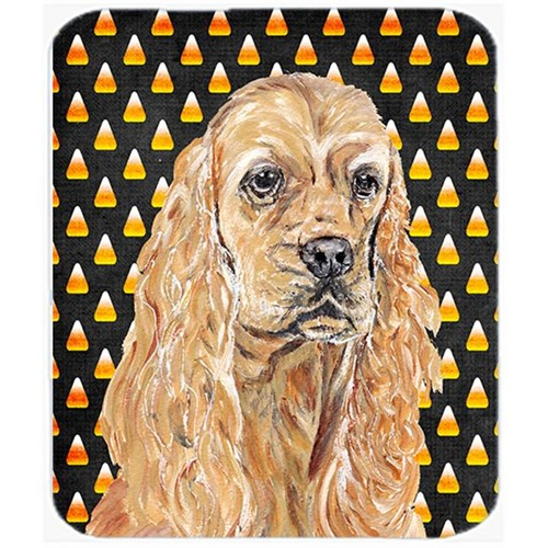 Carolines Treasures SC9528MP 7.75 x 9.25 In. Cocker Spaniel Halloween Candy Corn Mouse Pad Hot Pad or Trivet