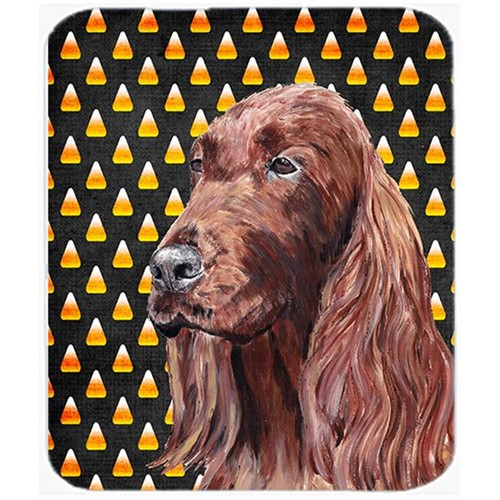 Carolines Treasures SC9524MP 7.75 x 9.25 In. Irish Setter Halloween Candy Corn Mouse Pad Hot Pad or Trivet