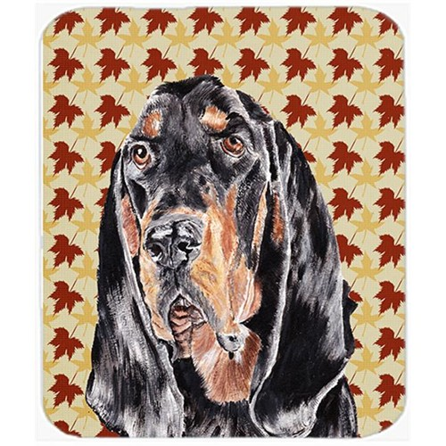 Carolines Treasures SC9539MP 7.75 x 9.25 In. Coonhound Fall Leaves Mouse Pad Hot Pad or Trivet