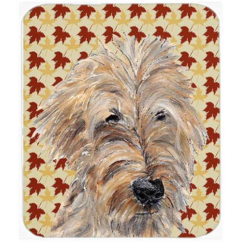 Carolines Treasures SC9549MP 7.75 x 9.25 in. Goldendoodle Fall Leaves Mouse Pad Hot Pad or Trivet
