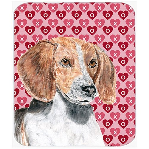 Carolines Treasures SC9565MP 7.75 x 9.25 in. English Foxhound Valentines Love Mouse Pad Hot Pad or Trivet
