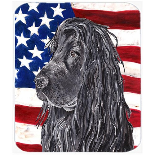 Carolines Treasures SC9513MP 7.75 x 9.25 In. Cocker Spaniel Black USA American Flag Mouse Pad Hot Pad or Trivet