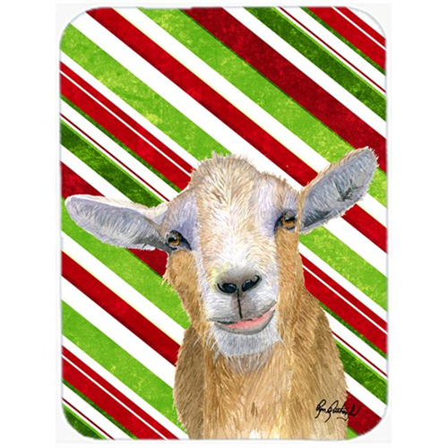 Carolines Treasures RDR3022MP 7.75 x 9.25 In. Candy Cane Goat Christmas Mouse Pad Hot Pad or Trivet