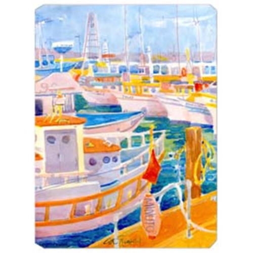 Carolines Treasures 6017MP 9.5 x 8 in. Shirmp Boats Mouse Pad Hot Pad Or Trivet