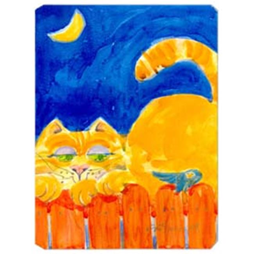 Carolines Treasures 6020MP 9.5 x 8 in. Orange Tabby Cat on the fence Mouse Pad Hot Pad Or Trivet