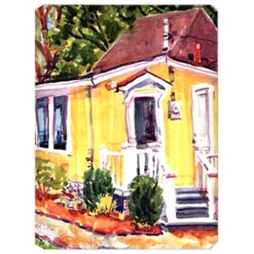 Carolines Treasures 6045MP 9.5 x 8 in. Yellow Cottage Houses Mouse Pad Hot Pad Or Trivet