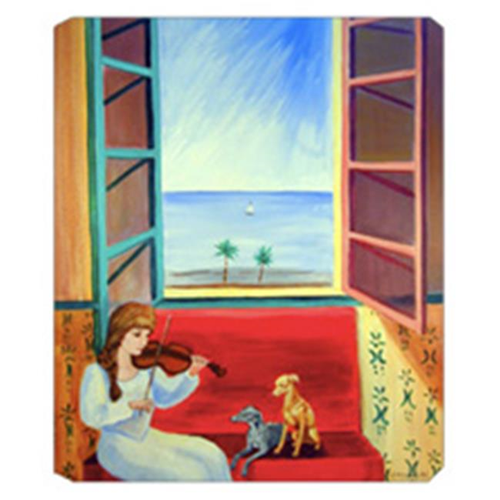 Carolines Treasures 7126MP 8 x 9.5 in. Italian Greyhounds with Mom and Violin Mouse Pad Hot Pad Or Trivet