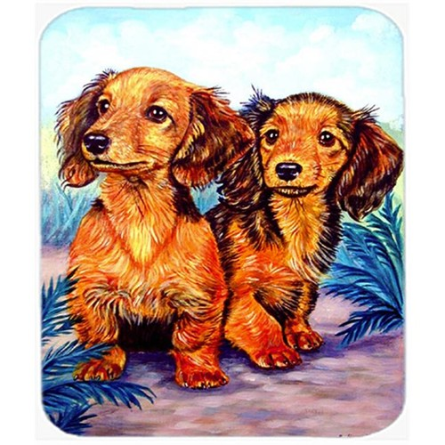 Carolines Treasures 7022MP 9.5 x 8 in. Long Hair Red Dachshund Mouse Pad Hot Pad Or Trivet