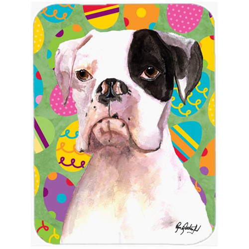 Carolines Treasures RDR3018MP Cooper Eggstravaganza Boxer Easter Mouse Pad Hot Pad Or Trivet