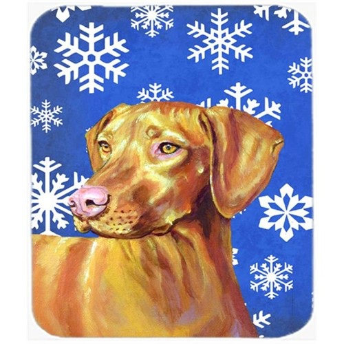 Carolines Treasures LH9280MP Vizsla Winter Snowflakes Holiday Mouse Pad Hot Pad Or Trivet