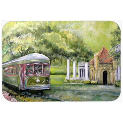 Carolines Treasures MW1091MP Streetcar Next Stop Audubon Park Mouse Pad Hot Pad or Trivet