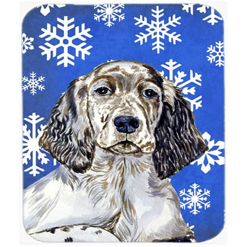 Carolines Treasures LH9277MP English Setter Winter Snowflakes Holiday Mouse Pad Hot Pad Or Trivet