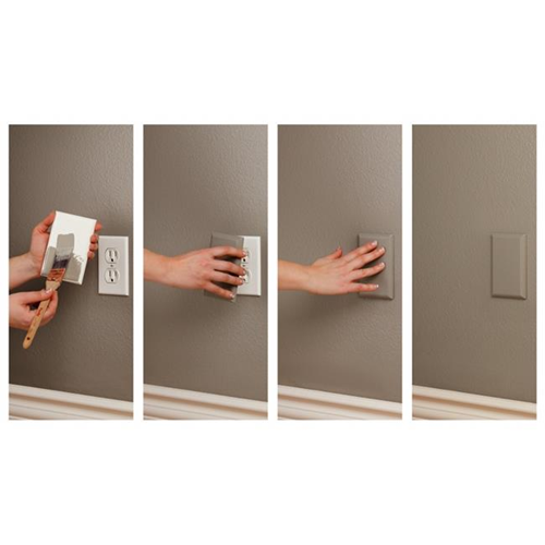 Coverplug SMC2002 Paintable Electrical Outlet Cover - White