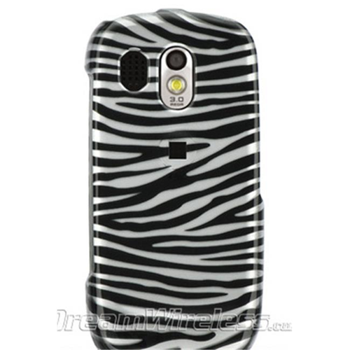 DreamWireless CASAMR850SLZ Samsung R850 & Caliber Crystal Case Silver & Black Zebra