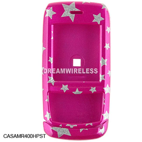 DreamWireless CASAMR400HPST Samsung R400 Crystal Case Hot Pink Base With Star