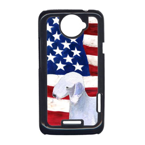 Carolines Treasures SS4045HTCONE USA American Flag With Bedlington Terrier HTC One X Cell Phone Cover