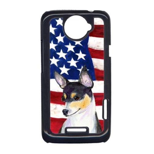 Carolines Treasures SS4002HTCONE USA American Flag With Fox Terrier HTC One X Cell Phone Cover