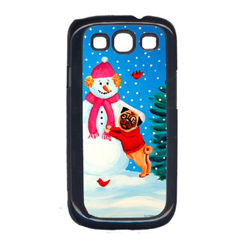 Carolines Treasures 7115GALAXYSIII Snowman With Pug Cell Phone Cover Galaxy S111