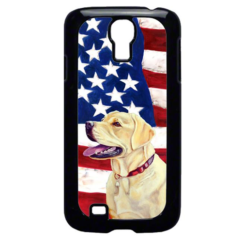 Carolines Treasures LH9008GALAXYS4 USA American Flag with Labrador Cell Phone Cover GALAXY S4