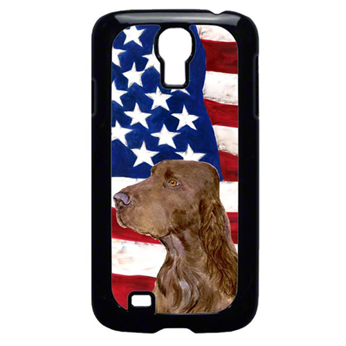 Carolines Treasures SS4010GALAXYS4 USA American Flag with Field Spaniel Cell Phone Cover GALAXY S4