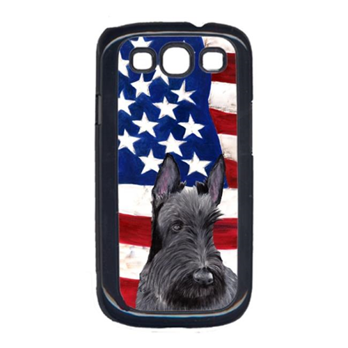 Carolines Treasures SC9032GALAXYS3 USA American Flag with Scottish Terrier Cell Phone Cover GALAXY S111