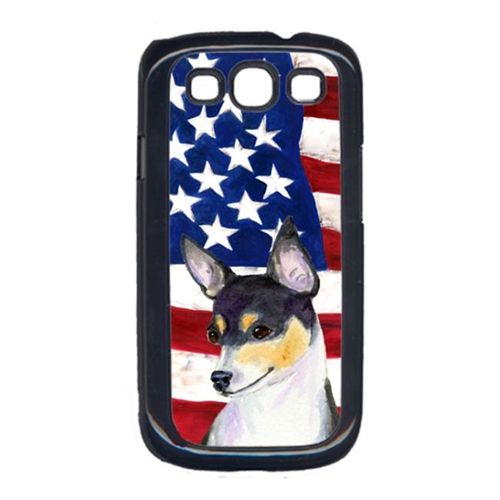 Carolines Treasures SS4002GALAXYS3 USA American Flag with Fox Terrier Cell Phone Cover GALAXY S111