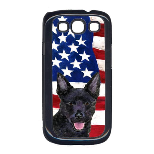Carolines Treasures SS4025GALAXYS3 USA American Flag with Australian Kelpie Cell Phone Cover GALAXY S111