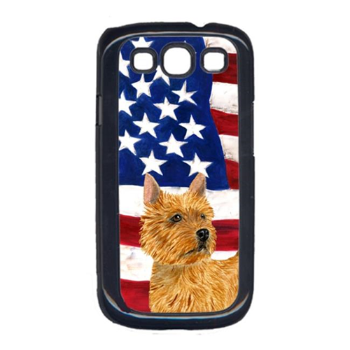 Carolines Treasures SS4026GALAXYS3 USA American Flag with Norwich Terrier Cell Phone Cover GALAXY S111